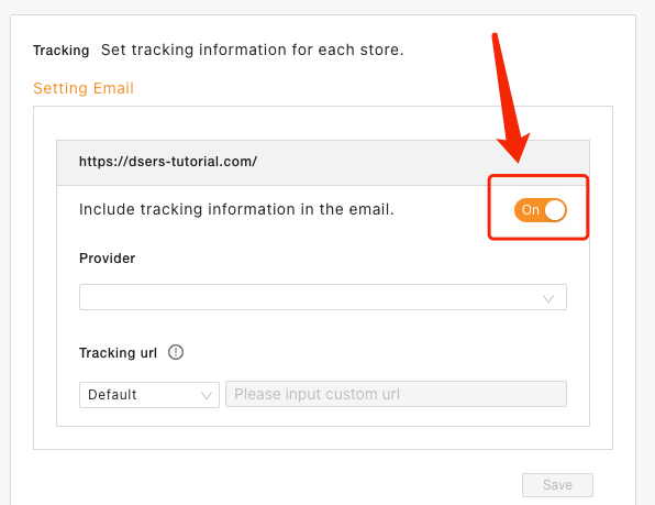 Set tracking for your orders with Woo DSers - Turn on Tracking Setting - Woo DSers