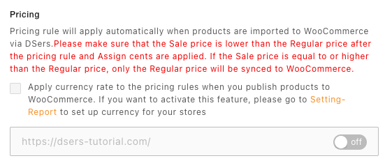 Pricing rules with Woo DSers - Pricing - Woo DSers
