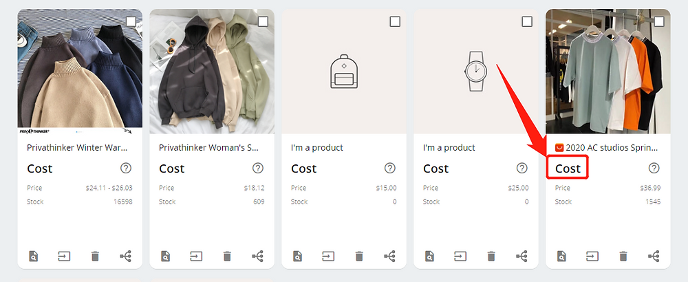 Advanced Mapping with Wix DSers - cost not displayed - Wix DSers