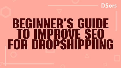 Beginner's guide to improve SEO for drop