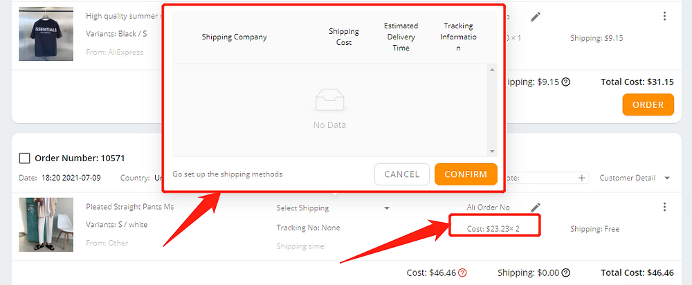 Why can't I select a shipping method with Wix DSers - not supported - Wix DSers