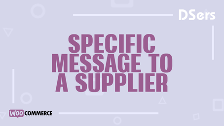 Specific message to a supplier