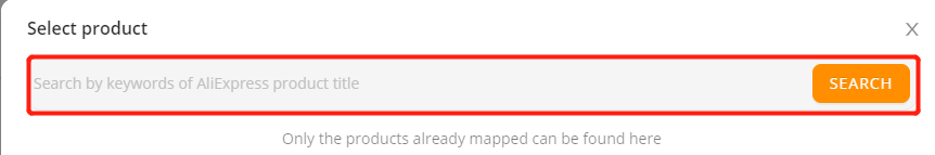 Set shipping method for specific products with Wix DSers - look for mapped products - Wix DSers