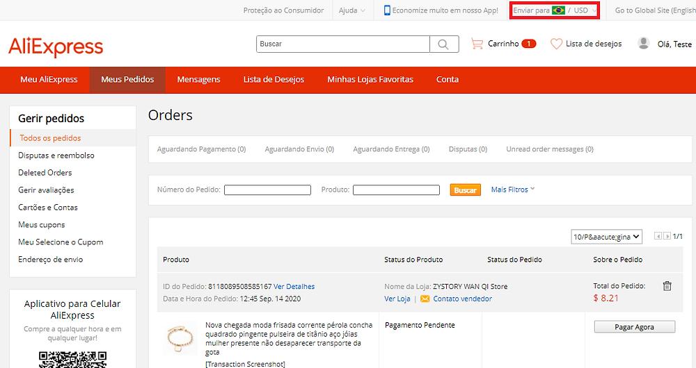 Alterar moeda de pagamento no AliExpress com Woo DSers - 3 - Woo DSers