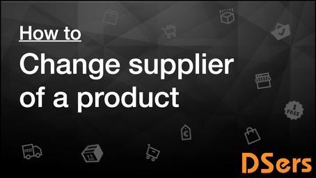 Change supplier of a product