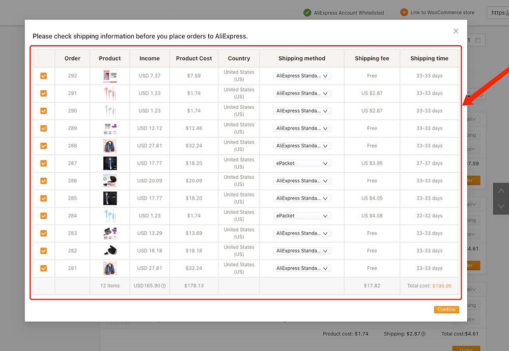 Fazer múltiplos pedidos do WooCommerce no AliExpress com Woo DSers - 3 - Woo DSers