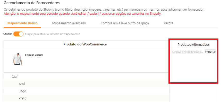 Como mapear meus produtos para o WooCommerce - 2 - DSers