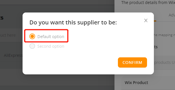 Connect AliExpress suppliers to your products with Wix DSers - Default option - Wix DSers