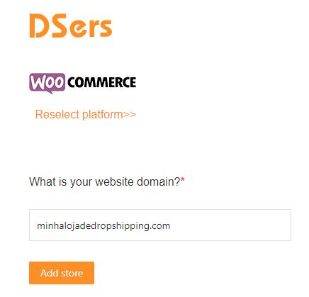 Como adicionar uma loja WooCommerce - 6 - DSers