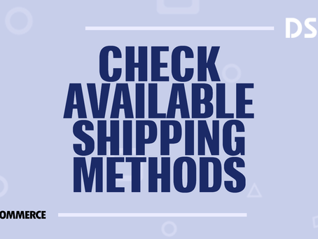 Check available shipping methods