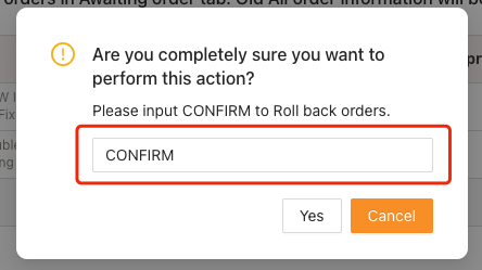 Cancel fulfillment of an order on Woo DSers - Enter Confirm - Woo DSers
