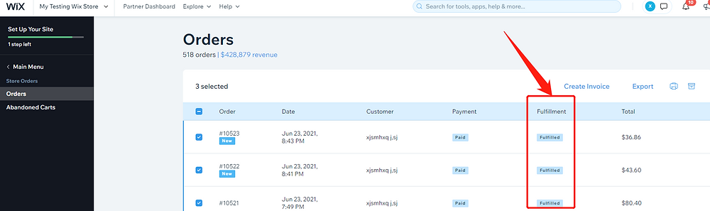 Fulfill orders manually on Wix with Wix DSers - fulfilled on Wix - Wix DSers