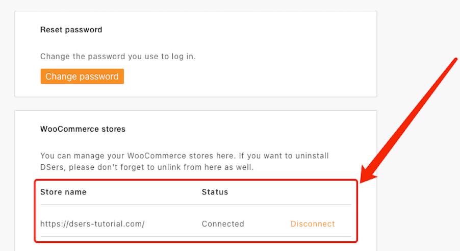 Remover uma loja WooCommerce com Woo DSers - 6 - Woo DSers