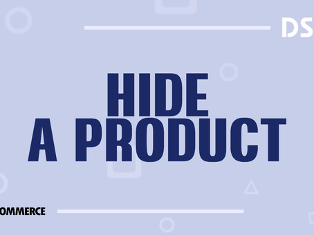 Hide a product