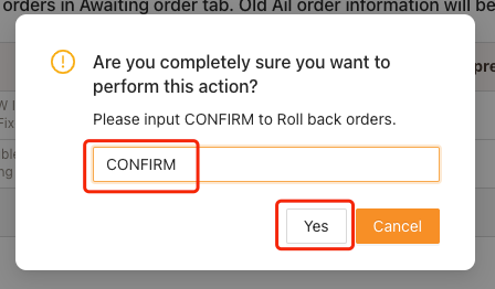 Re-order Awaiting fulfillment order on Woo DSers - Enter Confirm - Woo DSers