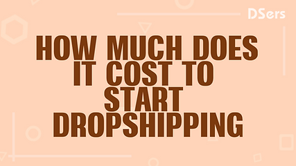How much does it cost to start dropshipp