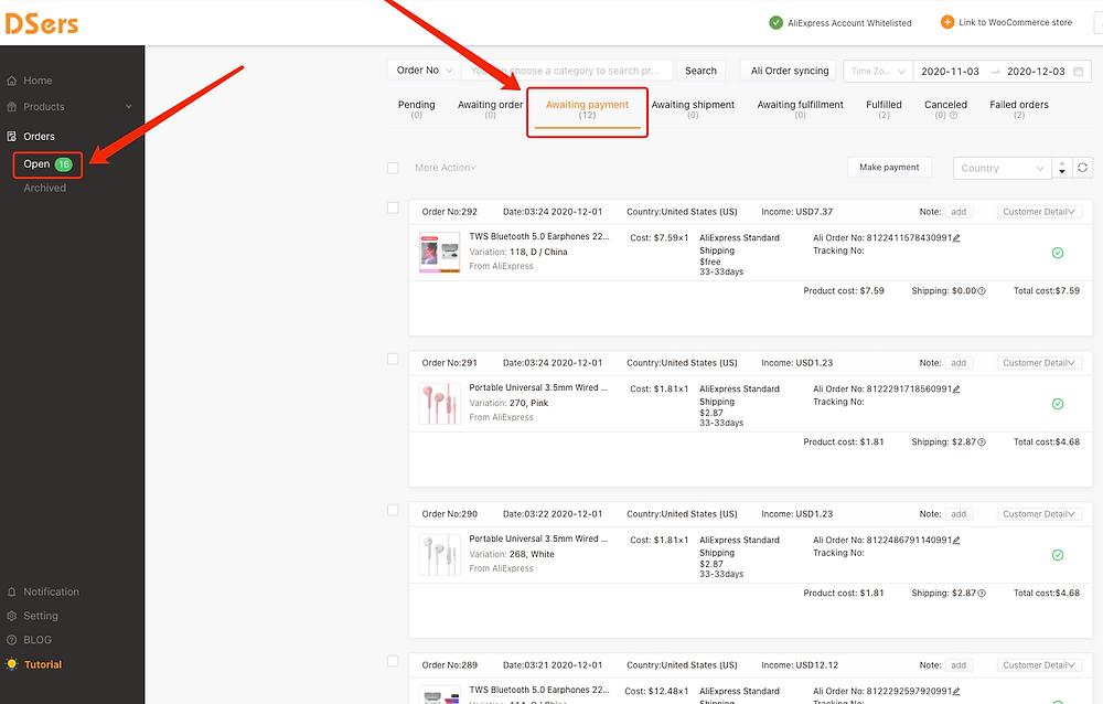 Pagar múltiplos pedidos no AliExpress com Woo DSers - 1 - Woo DSers