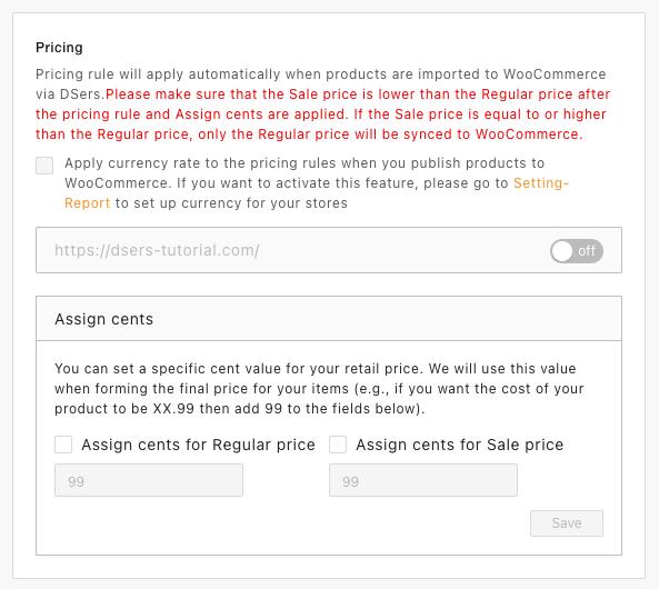 Regras de preço com Woo DSers - 2 - Woo DSers