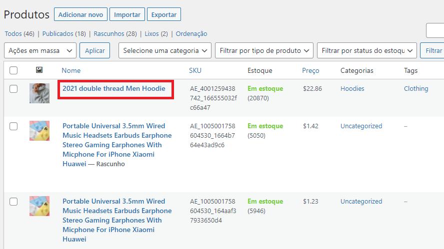 Editar um produto no WooCommerce com Woo DSers - 2 - Woo DSers