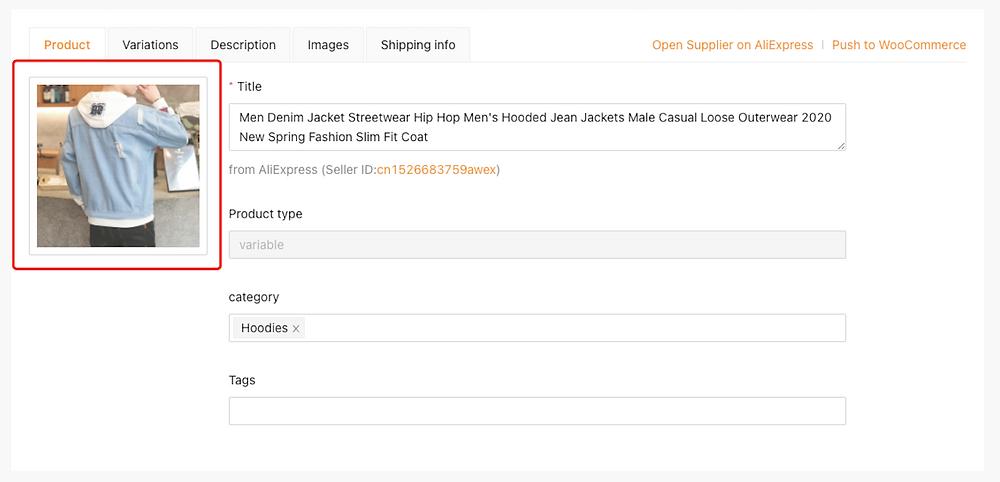 Editar um produto no DSers com Woo DSers - 9 - Woo DSers