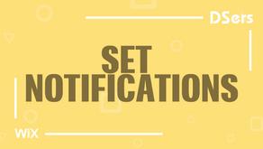 Set notifications