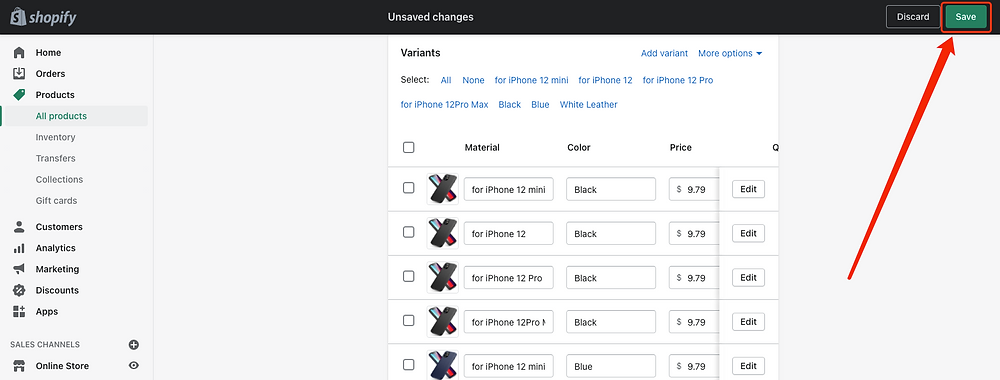 "Remove ""Ship From"" of a product - Shopify Save Changes - DSers"