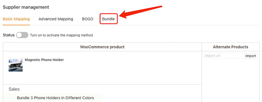 Create Bundles of products with Woo DSers - Access Bundle - Woo DSers