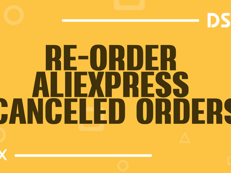 Re-order AliExpress canceled orders