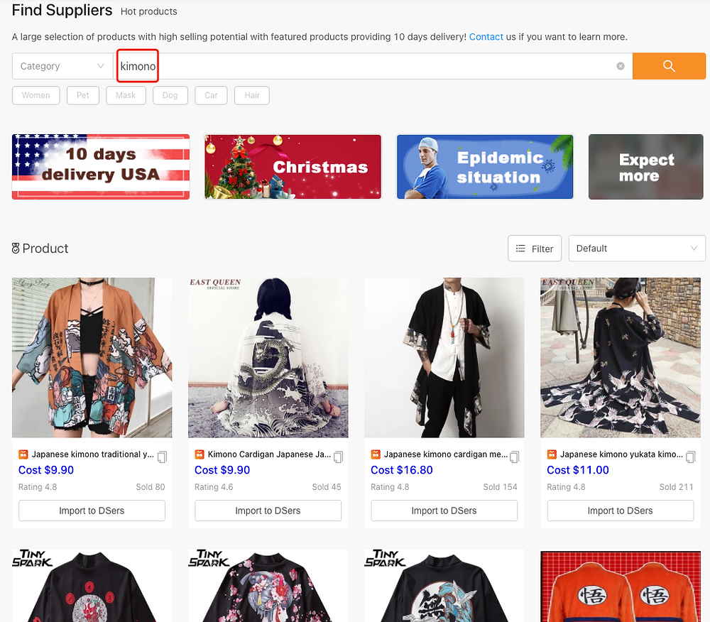 Find Better Suppliers for Your Products - Find Suppliers Page - DSers