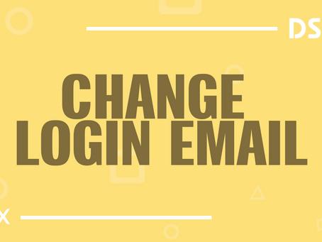 Change login email