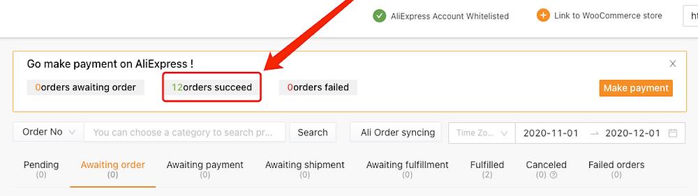 Fazer múltiplos pedidos do WooCommerce no AliExpress com Woo DSers - 7 - Woo DSers