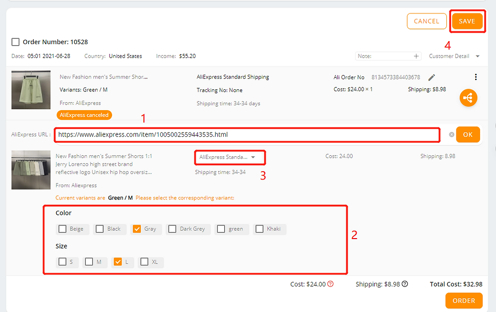 Re-order AliExpress canceled orders with Wix DSers - import new supplier - Wix DSers