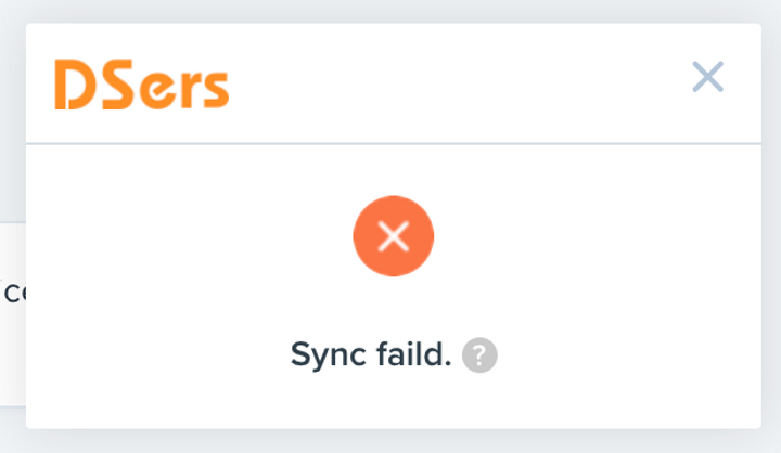 Migrate data from ShopMaster with DSers - Sync failed notification - DSers