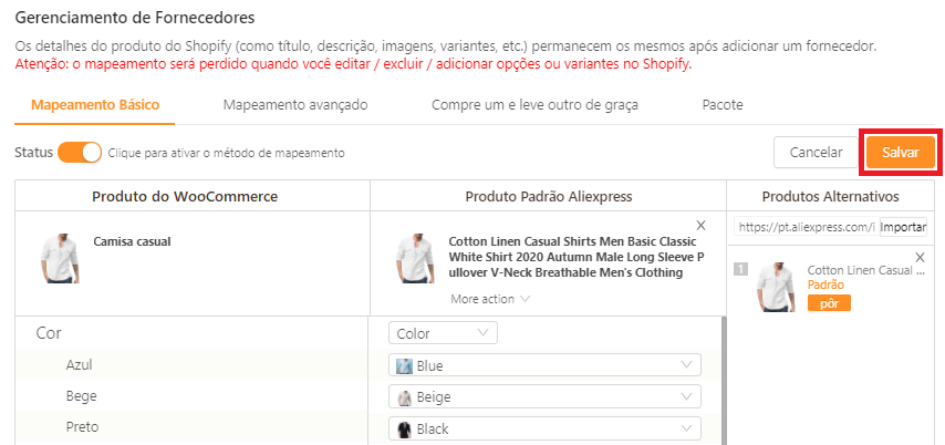 Como mapear meus produtos para o WooCommerce - 14 - DSers