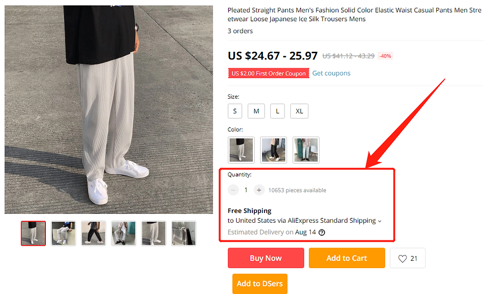 Why can't I select a shipping method with Wix DSers - free shipping method - Wix DSers