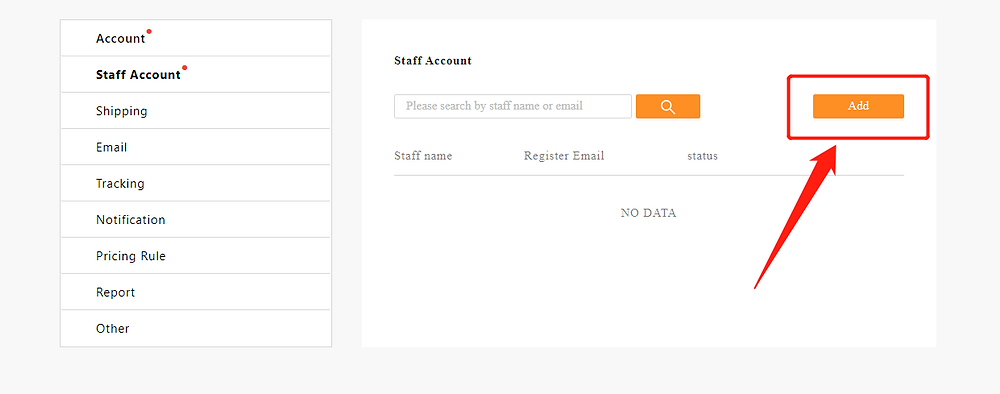 Add Staff Account to your Woo DSers - add staff account - DSers