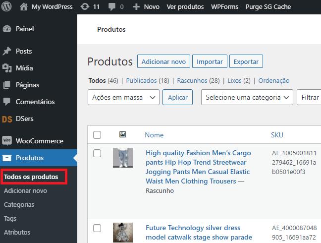 Editar um produto no WooCommerce com Woo DSers - 1 - Woo DSers