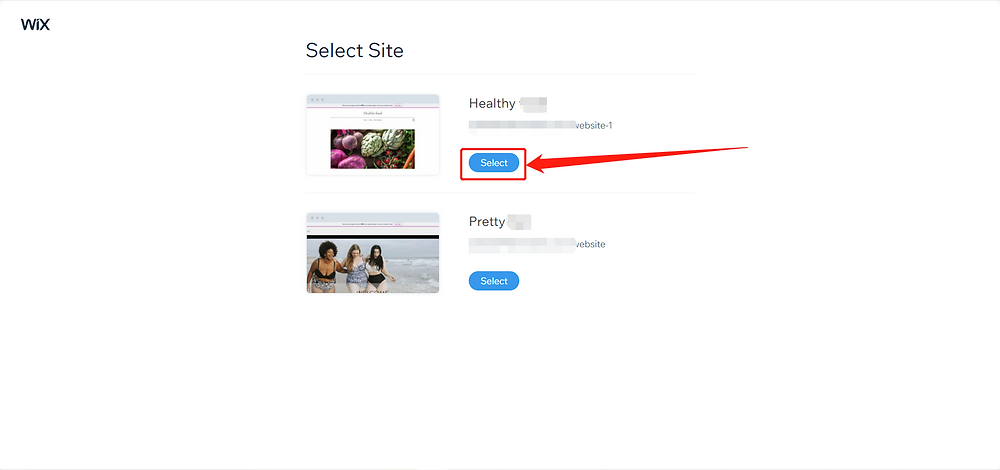 Link your Wix store with Wix DSers - select store - Wix DSers