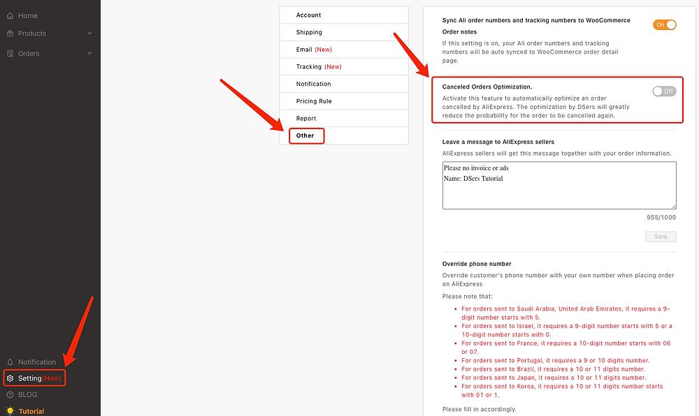 Otimização de pedidos cancelados no AliExpress com Woo DSers - 1 - Woo DSers