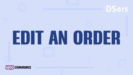 Edit an order