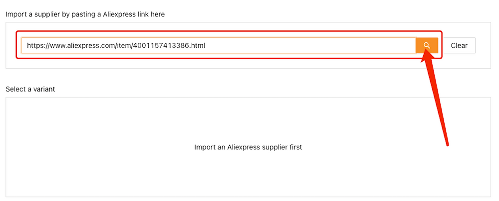 Advanced Mapping with Woo DSers - Paste the URL - Woo DSers