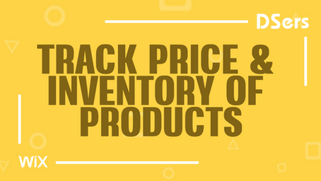 Track price and inventory of products
