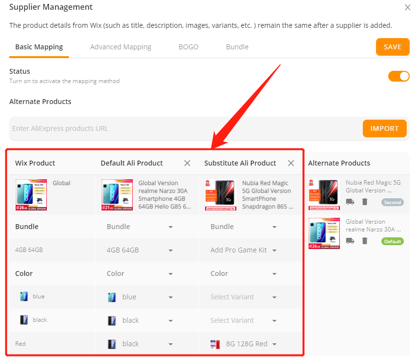 Add a variant to a product with Wix DSers - supplier management - Wix DSers