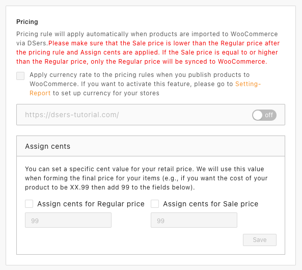 Pricing rules with Woo DSers - Pricing Rules - Woo DSers