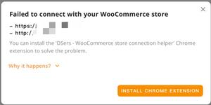 Por que o DSers não consegue se conectar à sua loja com Woo DSers - 1 - Woo DSers