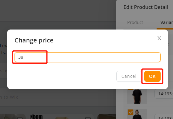 Edit a product on DSers with Wix DSers - enter new price - Wix DSers