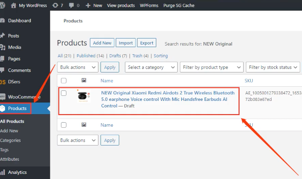 Import List with Woo DSers - Products in WooCommerce - Woo DSers