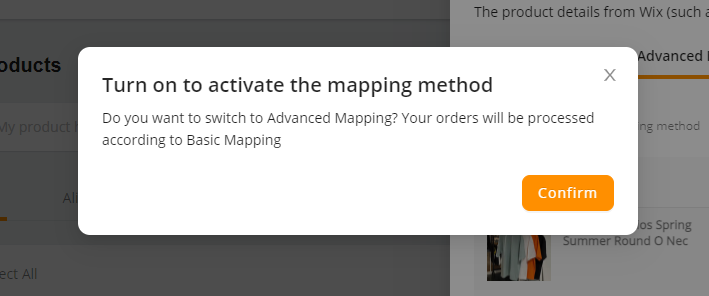 Advanced Mapping with Wix DSers - Confirm - Wix DSers