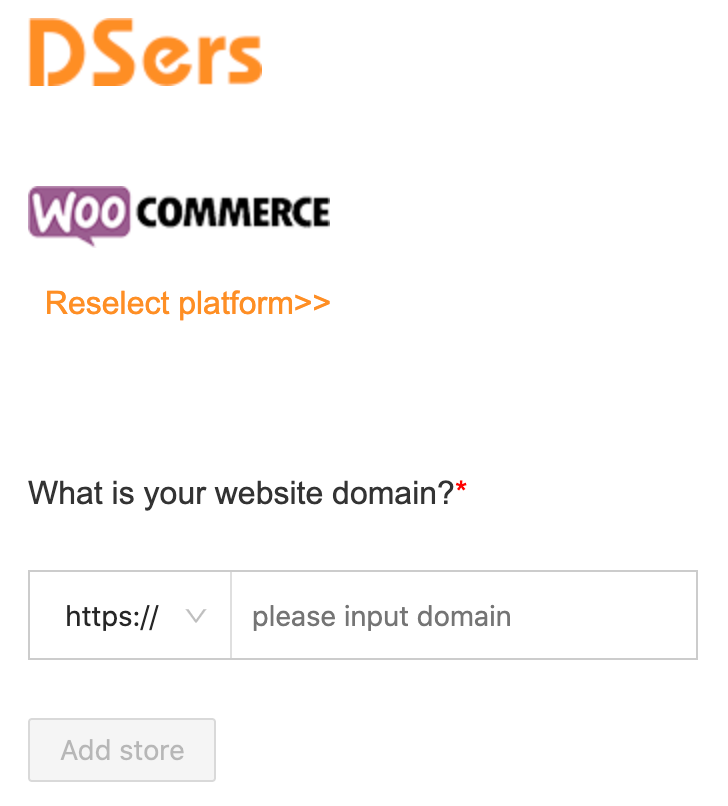 Link your WooCommerce store with Woo DSers - Input Domain - Woo DSers