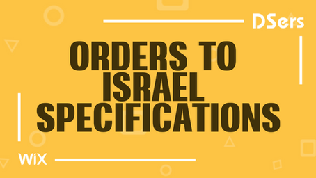 Orders to Israel specifications